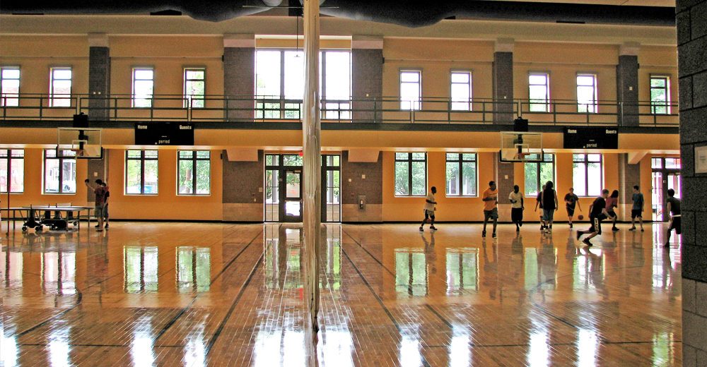 Commonwealth Blinds & Shades project at VCU Cary Street Gym