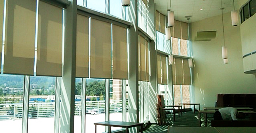 Commonwealth Blinds & Shades project at Virginia Tech Medical Building